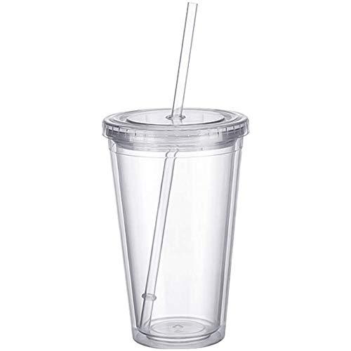 Plastikbecher Mehrweg doppelwandig Tasse Becher...