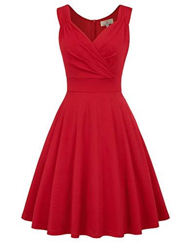 a Linie Casual Kleid festlich Petticoat Kleid...