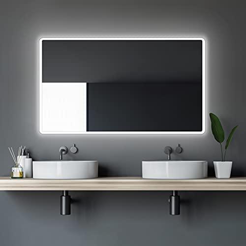 LED Badspiegel Talos Moon 120x70 cm– Lichtfarbe...