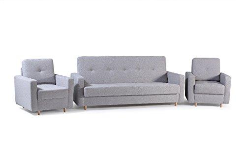 mb-moebel Polstergarnitur 3er Sofa und Zwei Sessel...