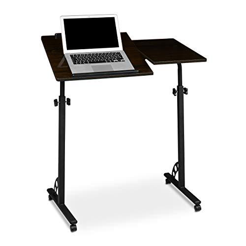 Relaxdays Laptoptisch groß höhenverstellbar H x...