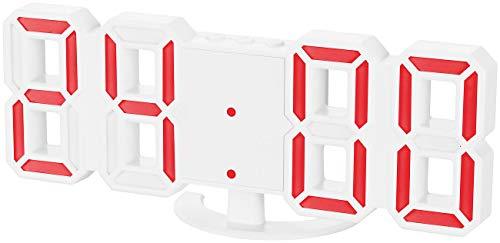 Lunartec Uhr: Kompakte USB-LED-Tisch- und Wanduhr,...