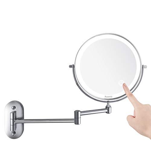 Auxmir Kosmetikspiegel LED Beleuchtet mit 1X / 10X...