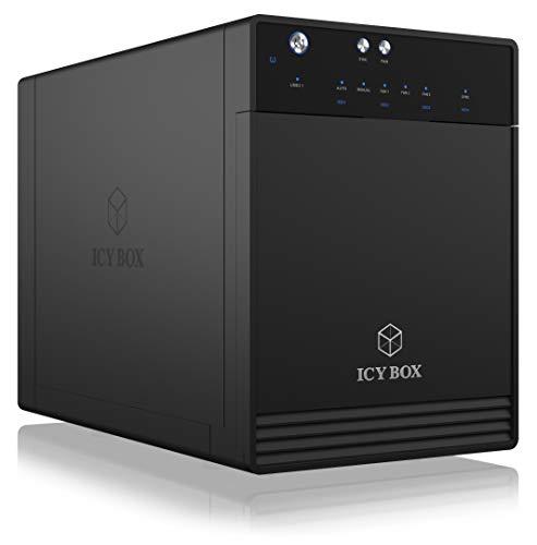 ICY BOX Externes 4-Fach USB-C Gehäuse für 2,5...
