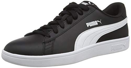 PUMA Unisex Smash V2 L Sneaker, Black White, 45 EU