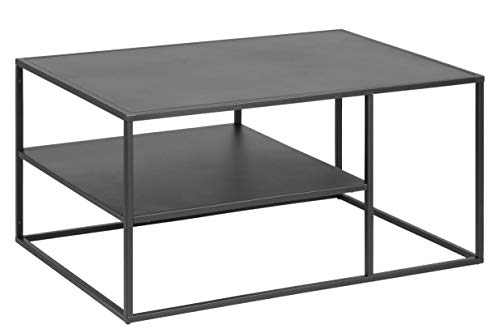 AC Design Nino Couchtisch, schwarz, Metall, B: 90...