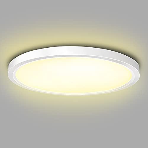 ISUDA LED Deckenleuchte 18W Rund Deckenlampe, LED...
