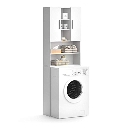 Vicco Waschmaschinenschrank LUIS Weiß 190 x 64 cm...