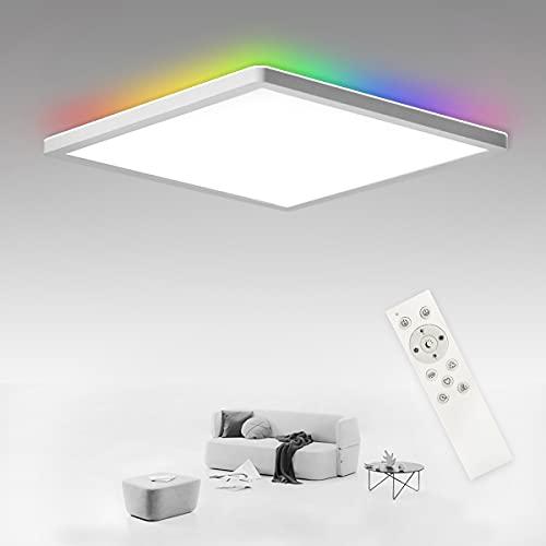 SHILOOK LED Deckenleuchte Flach Dimmbar mit...