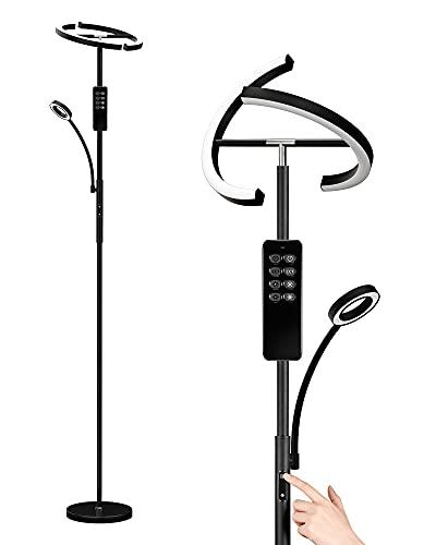 Anten Stehlampe LED Dimmbar   Schwarz Stehleuchte...