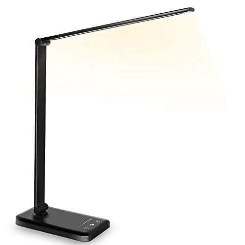 Schreibtischlampe LED Dimmbare Tischleuchte 5 Farb...
