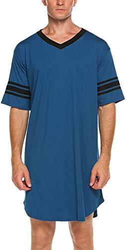 Nachthemd Herren Kurzarm Schlafanzug Nachtwäsche...