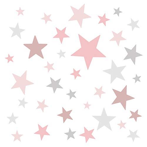 Little Deco Wandaufkleber 60 Sterne Kinderzimmer...