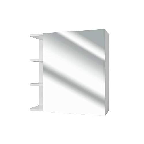 Vicco Spiegelschrank Fynn 62 cm Weiß - Spiegel...