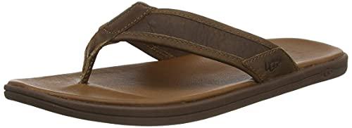 UGG Herren Seaside Flip Leather Sandale, Luggage,...
