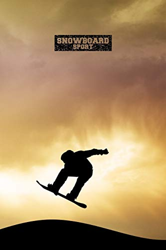 SNOWBOARD SPORT PUNKTRASTER NOTIZBUCH: 6x9 Zoll...