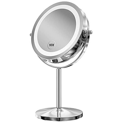 Gospire Kosmetikspiegel mit LED Beleuchtung 7 Zoll...
