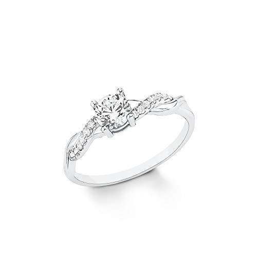 s.Oliver Ring für Damen, Sterling Silber 925,...