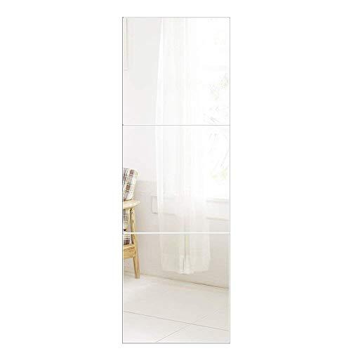 AUFHELLEN Wandspiegel 3 Stücke 40x40cm aus Glas...