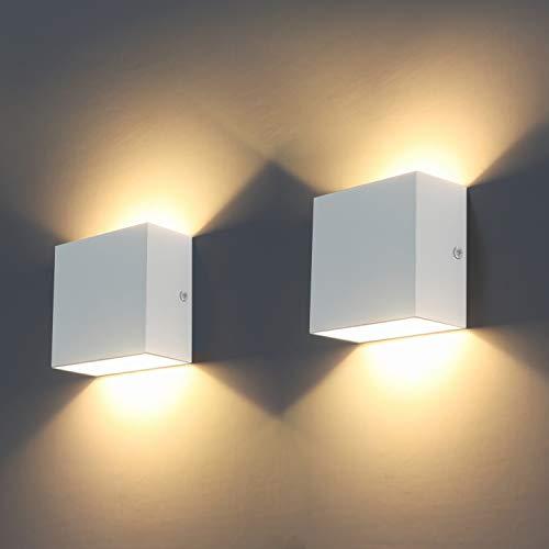 Wandleuchten Indoor, 2Pcs LED Wandbeleuchtung...