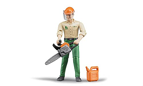bruder Forstarbeiter mit Zubehör Spielfigur,...