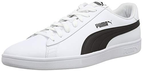 PUMA Unisex Smash V2 L 251 Sneaker, White Black,...