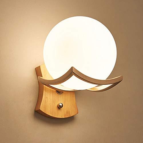 LED Nordic Wandleuchte, Kreative Glas Sphärische...