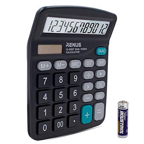 RENUS Standard Taschenrechner 12-stelliger...