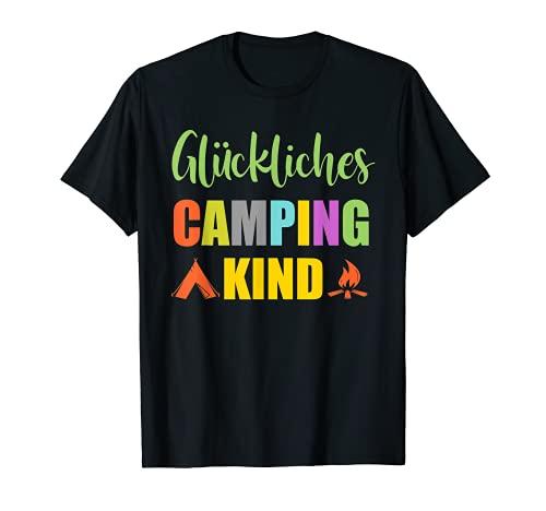Glückliches Camping Kind Camper Caravan Zelt...