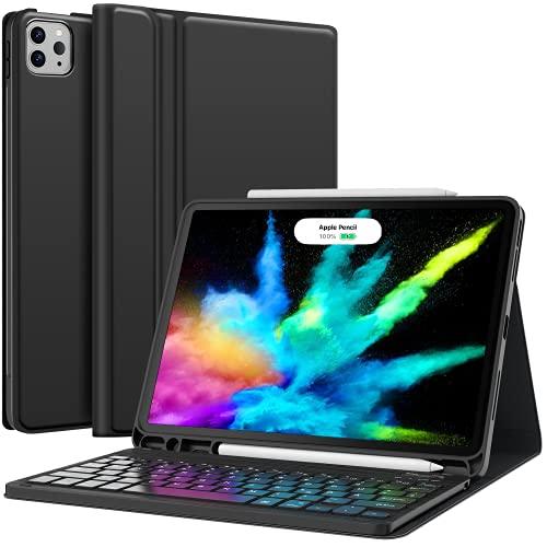Earto iPad Air 4 Hülle mit Tastatur 2020, iPad...