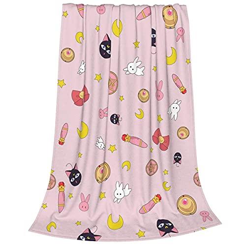 Sailor Moon Decke Flanell Fleece Decke Cat Luna...