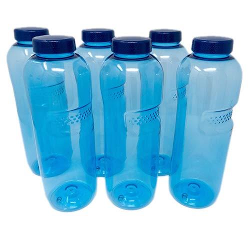 SAXONICA Trinkflasche aus Tritan 6 x 1 Liter ohne...
