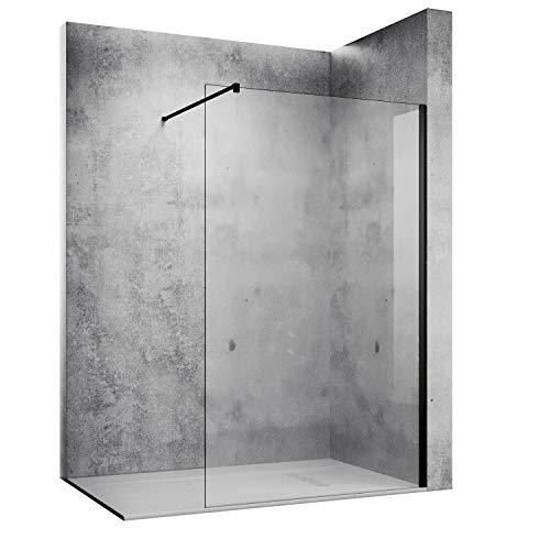 SONNI Duschwand 120 x 200 cm schwarz Walk In...