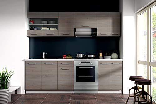 Küche Dave 240 cm Küchenzeile/Küchenblock...