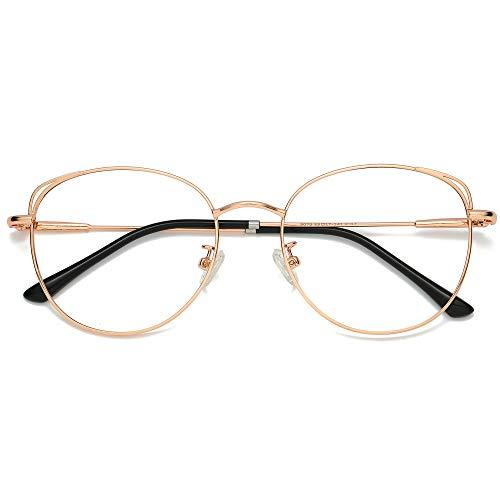 SOJOS Runde Brille Damen Blaulichtfilter...