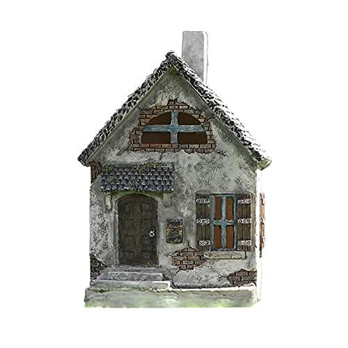WOTEG Miniatur Gartenhaus Statuen, Robuste...