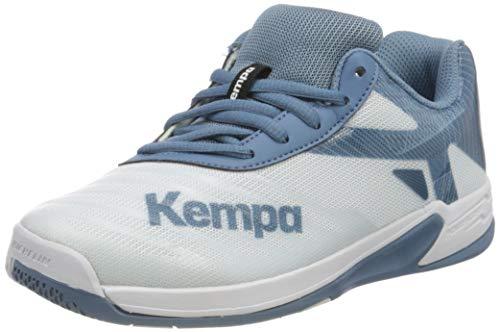 Kempa Unisex Wing 2.0 JUNIOR Handballschuhe, Weiß...