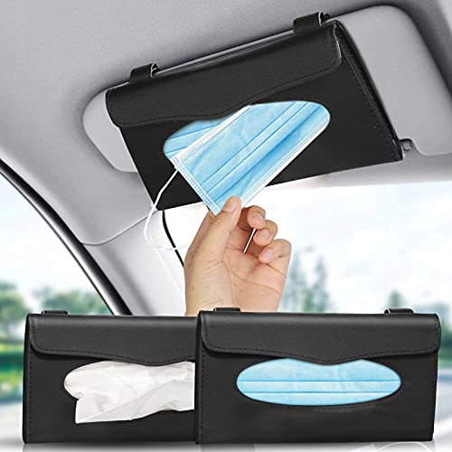 2 Stück Auto Tissue Halter, PU Leder Tissue Box...