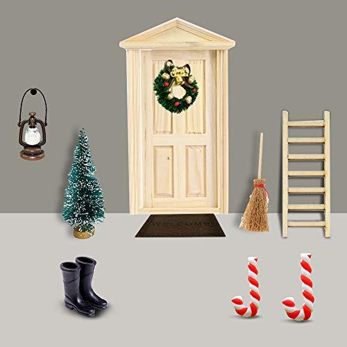 Gcroet Miniatur Puppenhaus-Wichteltür Weihnachten...