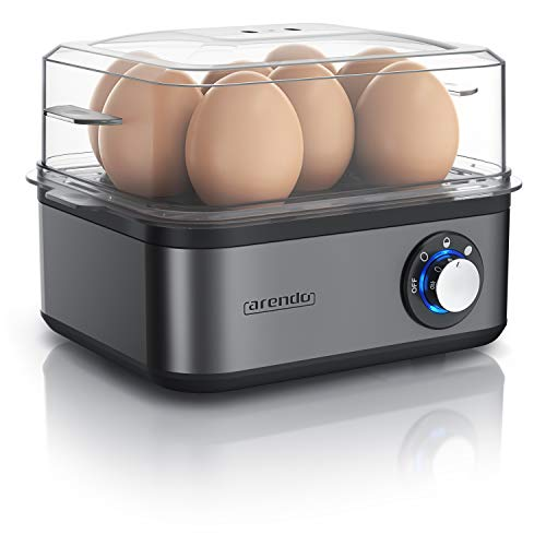 Arendo - Eierkocher Edelstahl für 1 bis 8 Eier -...