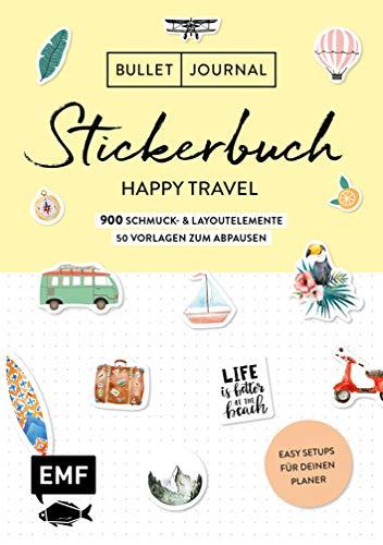 Bullet Journal – Stickerbuch Happy Travel: 750...