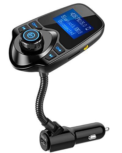 Nulaxy Bluetooth FM Transmitter, Radio Adapter Car...