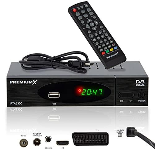 PremiumX Kabel Receiver DVB-C FTA 530C Digital...