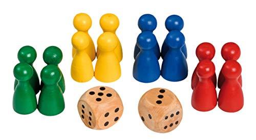 Philos 3053 Spielkegel mit Würfeln