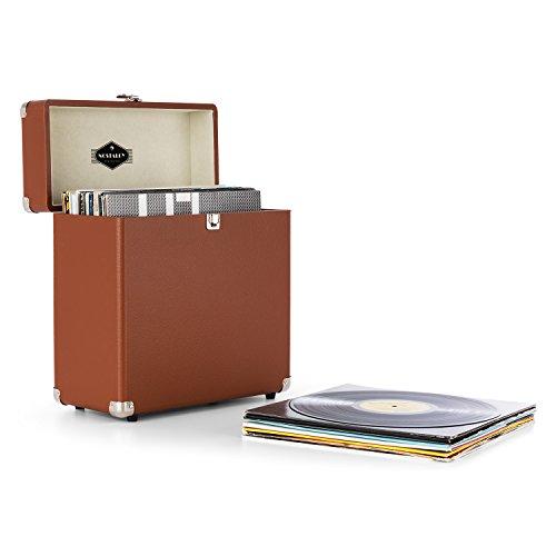 auna TTS6-BR - Schallplattenkoffer, Recordbox,...