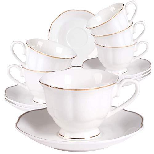 Neue Bone China Weiß Klein Kaffeetassen mit...