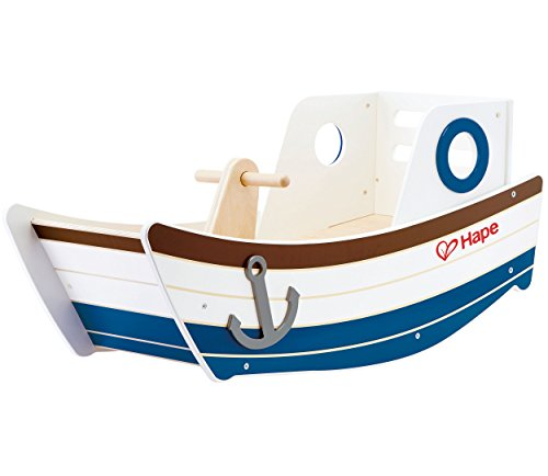 Hape E0102 Rocking Boat Toy (Multi-Colour)...