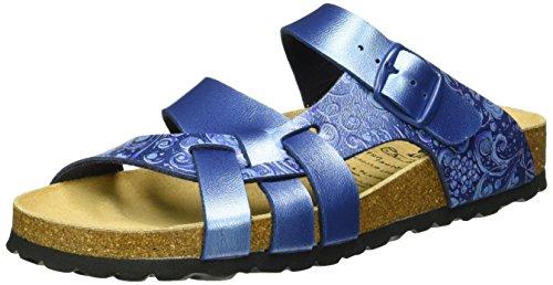 Lico BIOLINE FLORA Damen Pantoletten, Blau, 42 EU