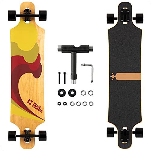 Longboard, Komplettboard mit Deck aus Bambus &...