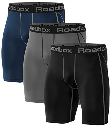 Roadbox 3er Pack Herren Kompressionsshorts,...